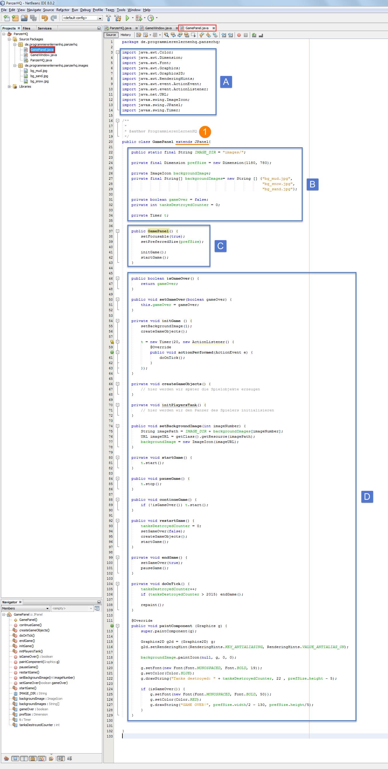 Java Spiel Programmieren Tutorial - Die Spielfläche erstellen