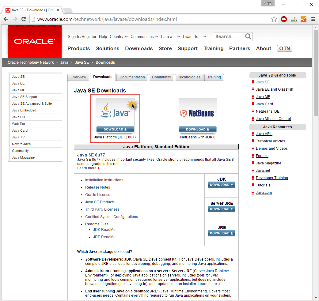 java jdk8 download