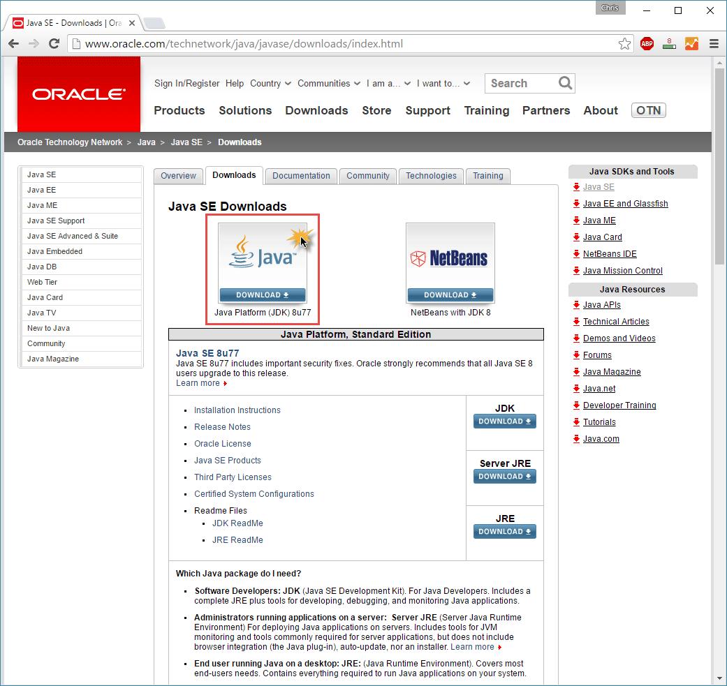 Installation von Java 8 (JDK 8) auf einem Windows 10 PC