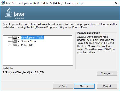 java jdk8 installieren komponenten