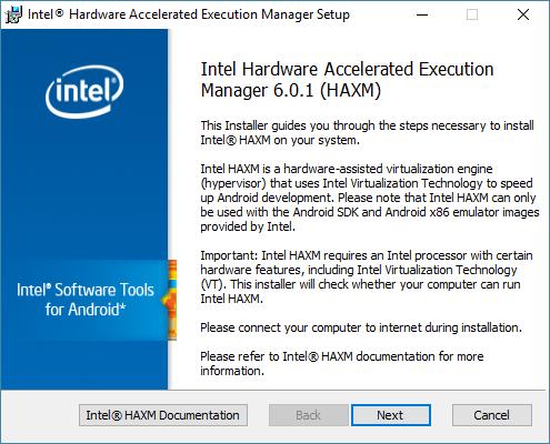 android studio haxm install 1