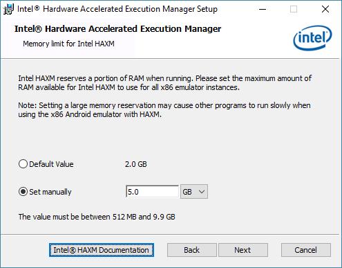 android studio haxm install 2