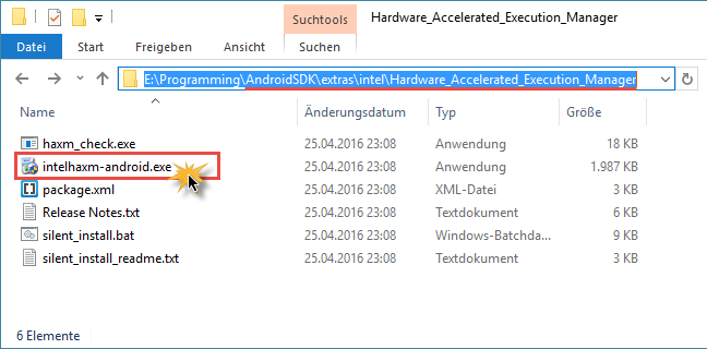 android studio haxm installer