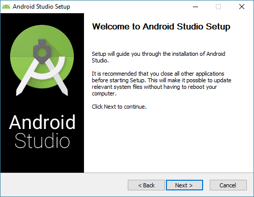 android studio install wizard