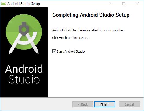 android studio installation erfolgreich