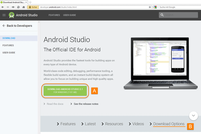 android stuido download