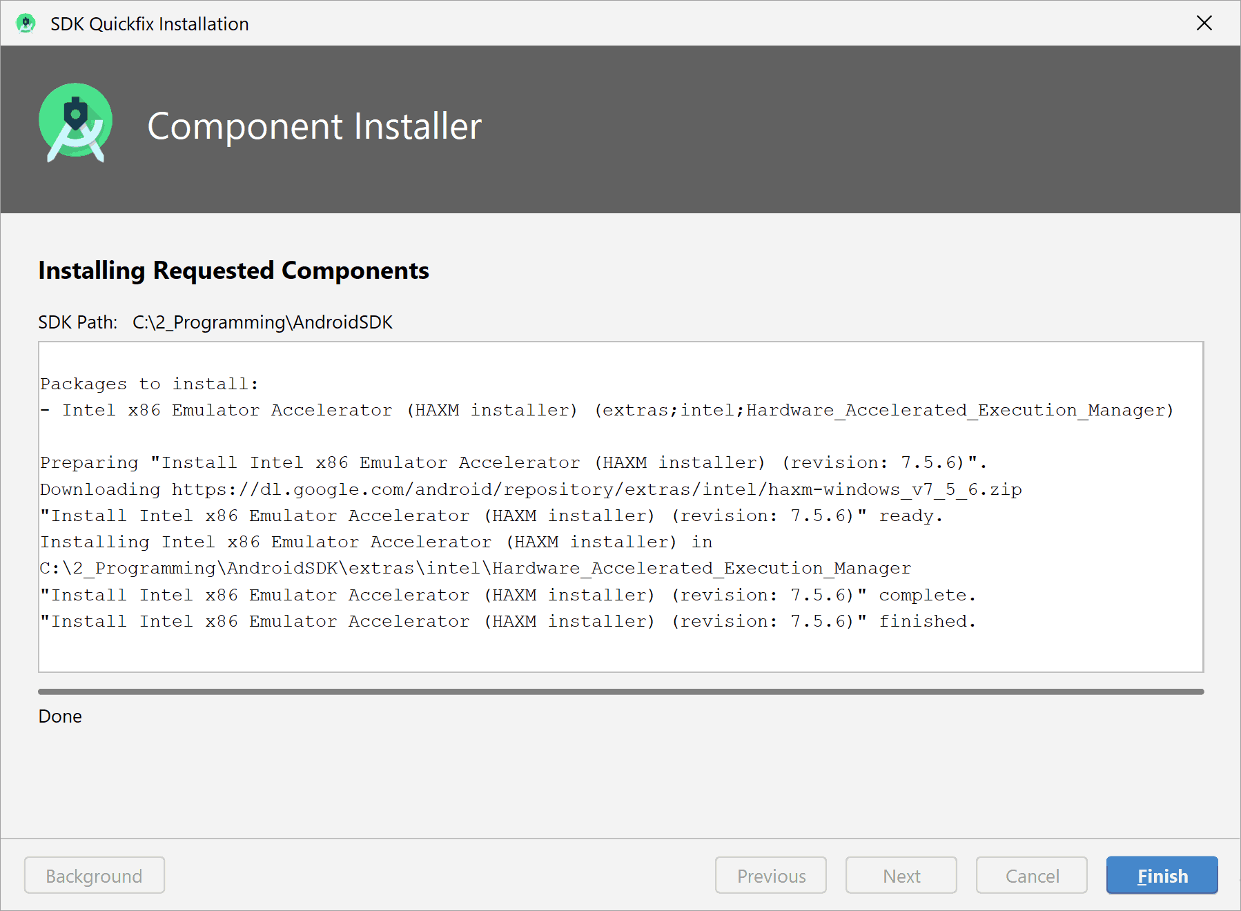 component_installer_haxm_finished