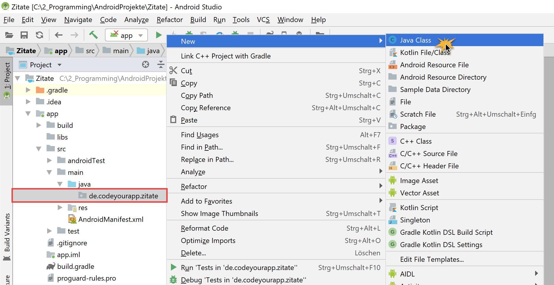 create_new_activity_contextual_menu