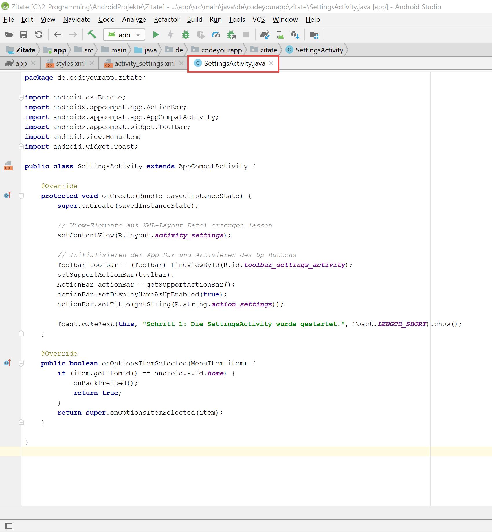settings_activity_created_code