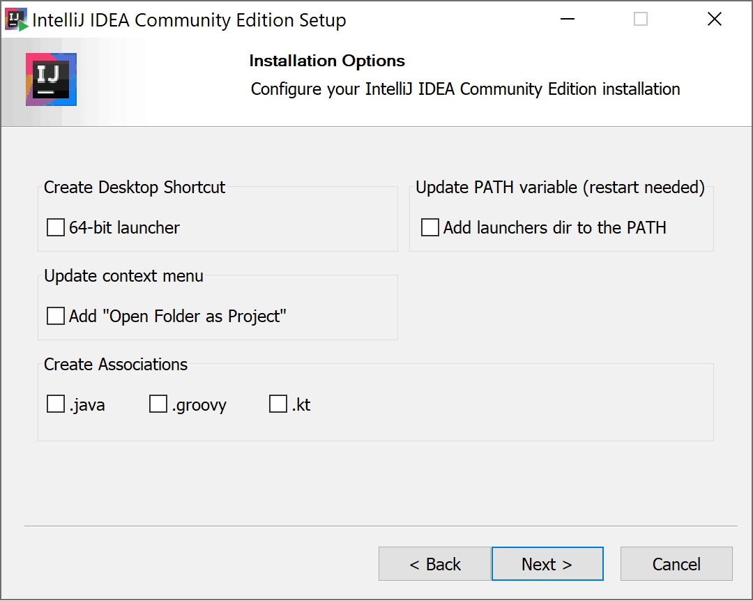 intellij_idea_installieren_dialog_optionen